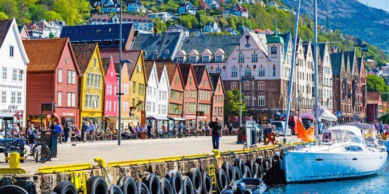 Bergen brygge hanzehuizen in Bergen