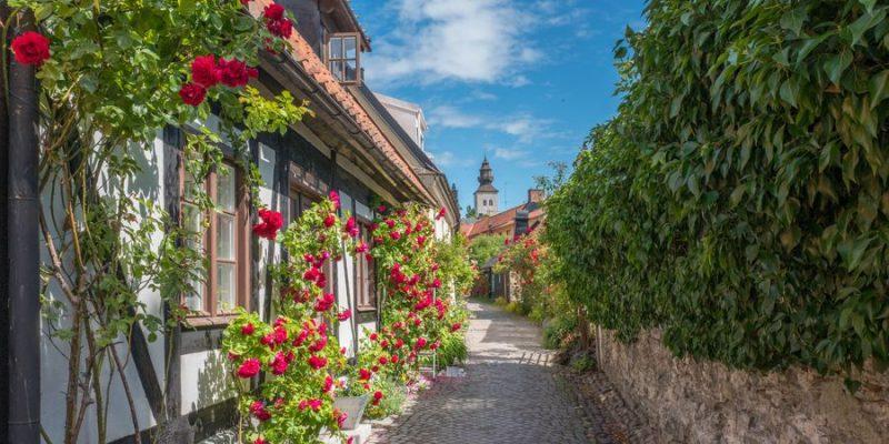 Bezoek de gezellige steegjes in Visby Zweden