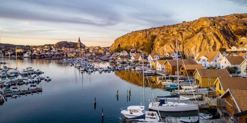 De schilderachtige Zweedse kust