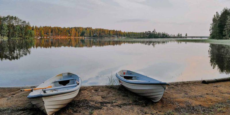 Genieten aan de Finse meren Finland