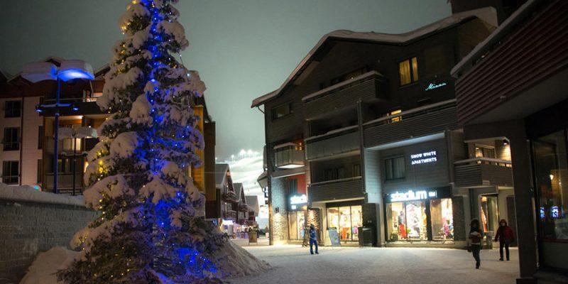 In het centrum van Levi kan je heel wat winkels terugvinden