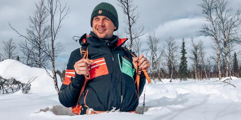 In maart is er nog steeds veel sneeuw in Lapland
