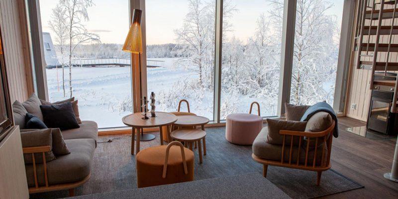 Interieur-van-een-luxueuze-cabin-van-Arctic-Bath