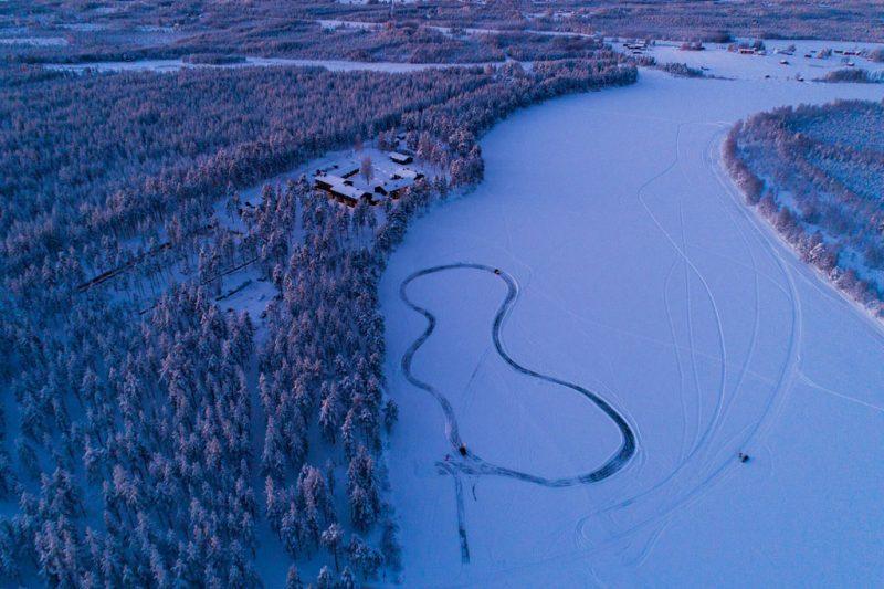 Kleine lodge in Zweeds Lapland