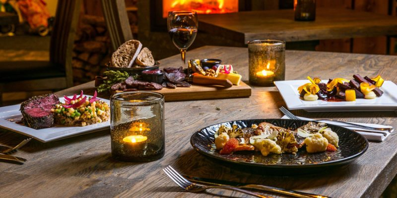 Scandinavische keuken in de lodges in Lapland