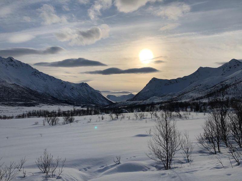 Meer en natuur in Andoy Noorwegen