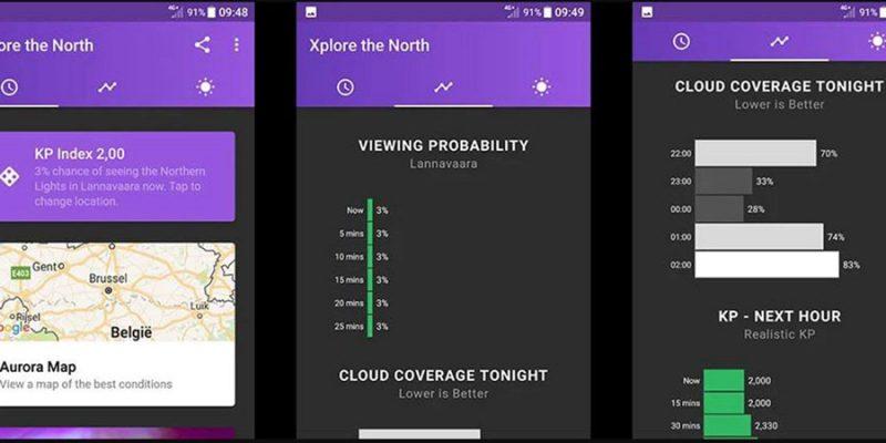 Noorderlicht app overzicht