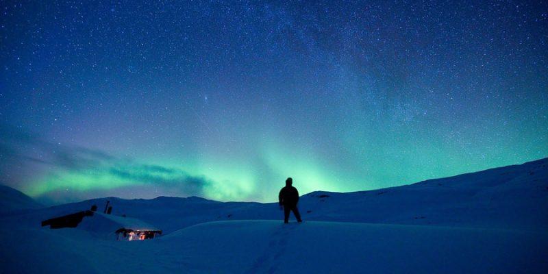 Noorderlicht in de prachtige natuur van Lapland