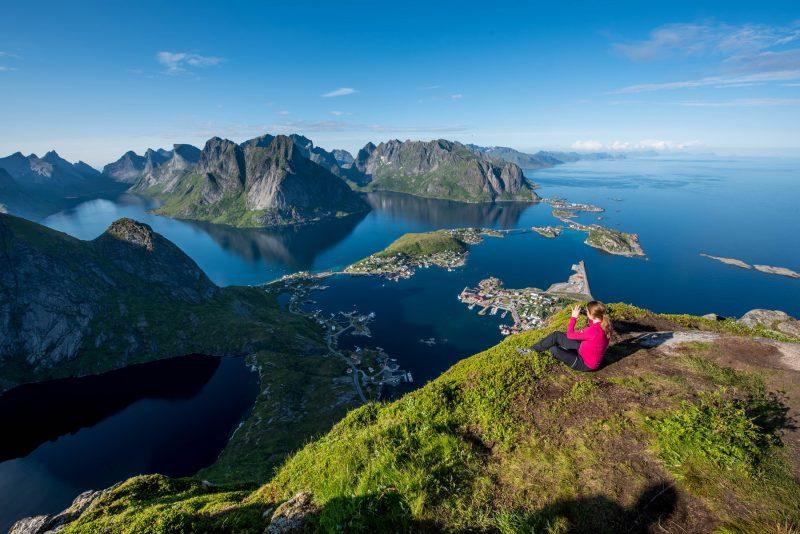 Noorwegen Lofoten uitzicht