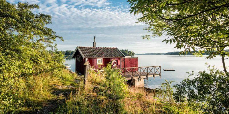 Zomerverblijjf in een Zweedse blokhut