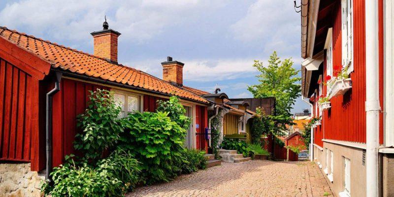 Zweden steegje in Vimmerby