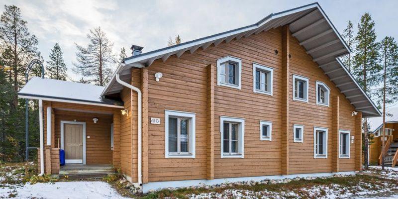 moderne chalet in Fins Lapland