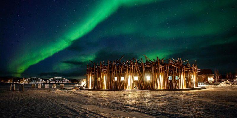 noorderlicht-boven-het-Arctic-Bath