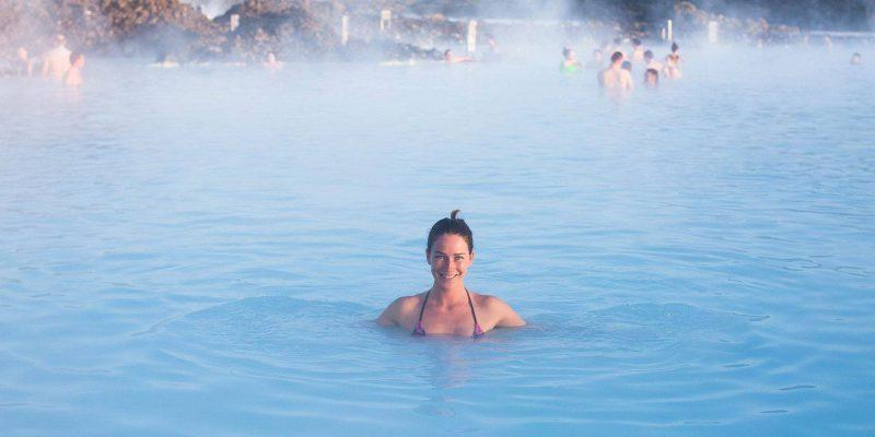 Baden in de Blue Lagoon IJsland