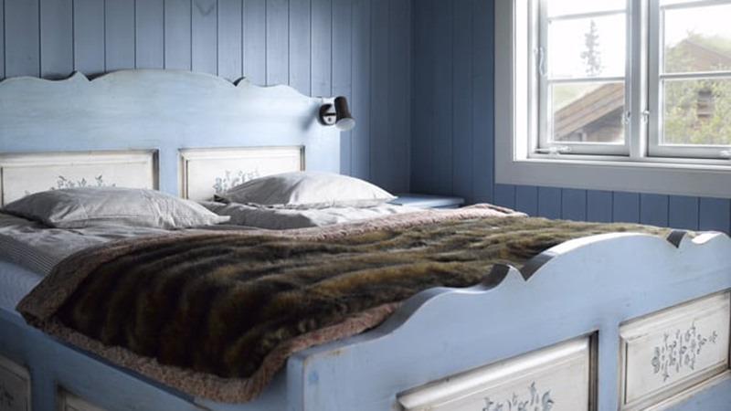 slaapkamer-lofsdalen-panorama-vakantiehuis