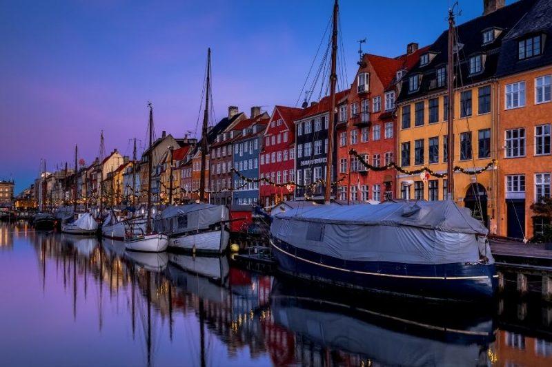 Nyhavn Kopenhagen Denemarken met Nordic