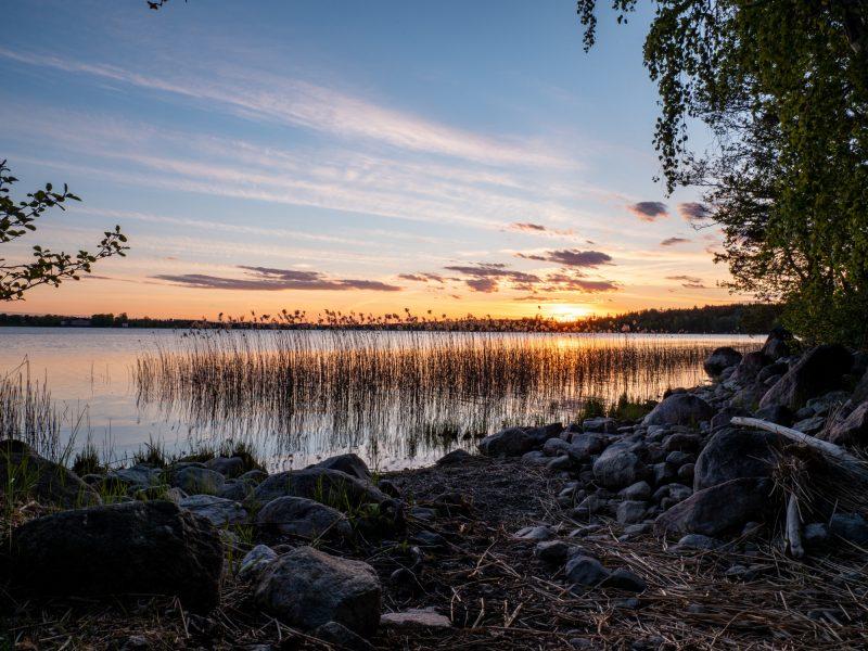 De zonsondergang vanuit je tent - naar Zweden met Nordic