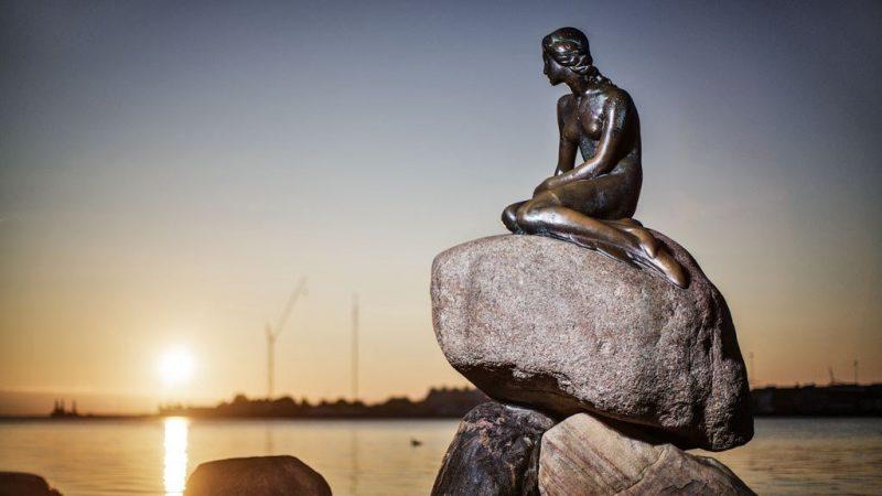 De kleine zeemeermin in Kopenhagen - de steden van Denemarken
