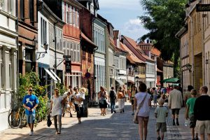Kuieren door Odense centrum