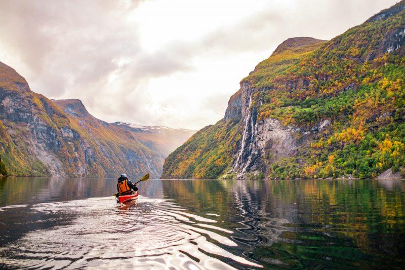 Met de kajakken door de Noorse fjorden