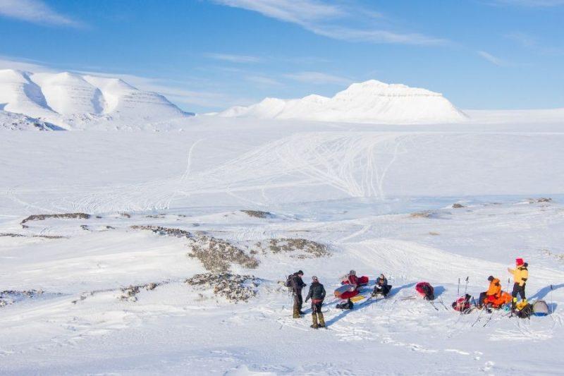 Groep bij Spitsbergen