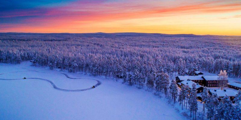 Arctic River Lodge vanuit de lucht
