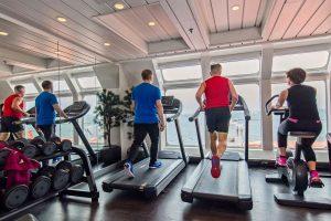 Fitnessruimte aan boord
