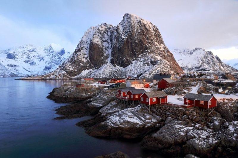 Lofoten eilanden met de rorbu vissershuisjes