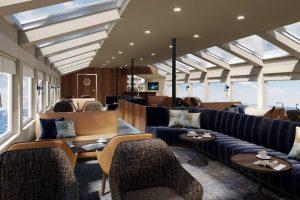 Lounge van de MS Vesteralen