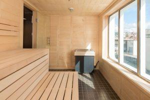 Sauna met uitzicht aan boord