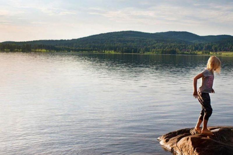 Waterpret aan de Zweedse meren