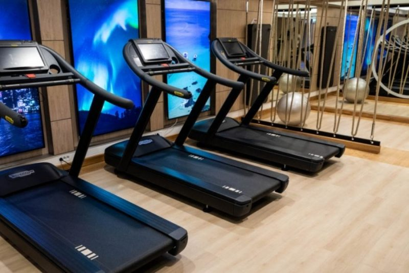 De fitnessruimte