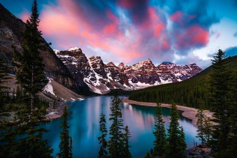 Morraine Lake in Banff Canada reizen met Nordic