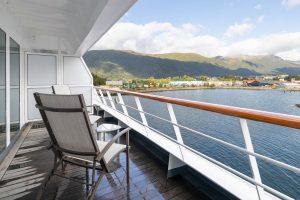 Eigen balkon met uitzicht aan boord