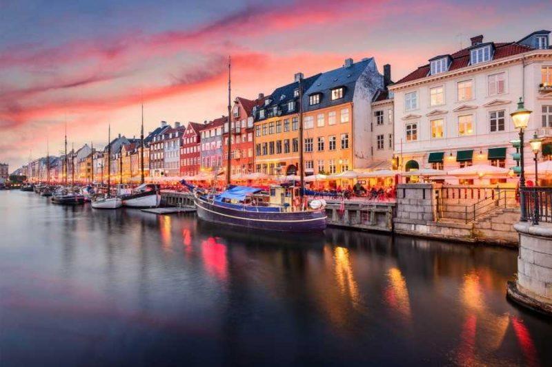 Kopenhagen haven in Denemarken met Nordic