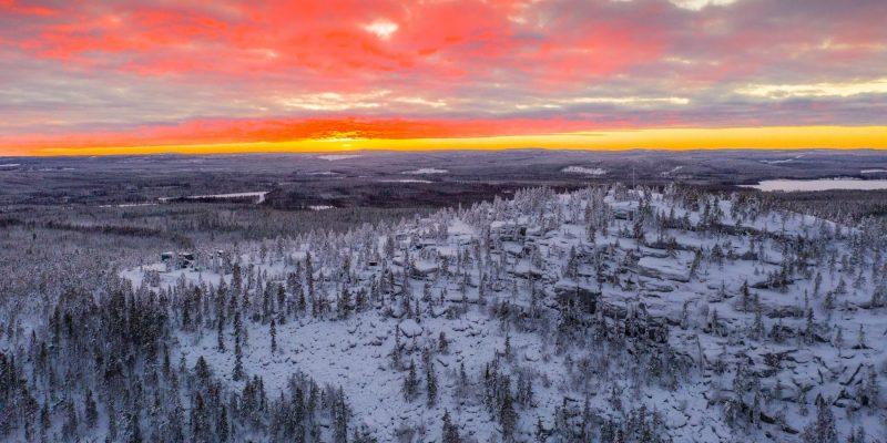 De omgeving van de Lapland View Lodge.