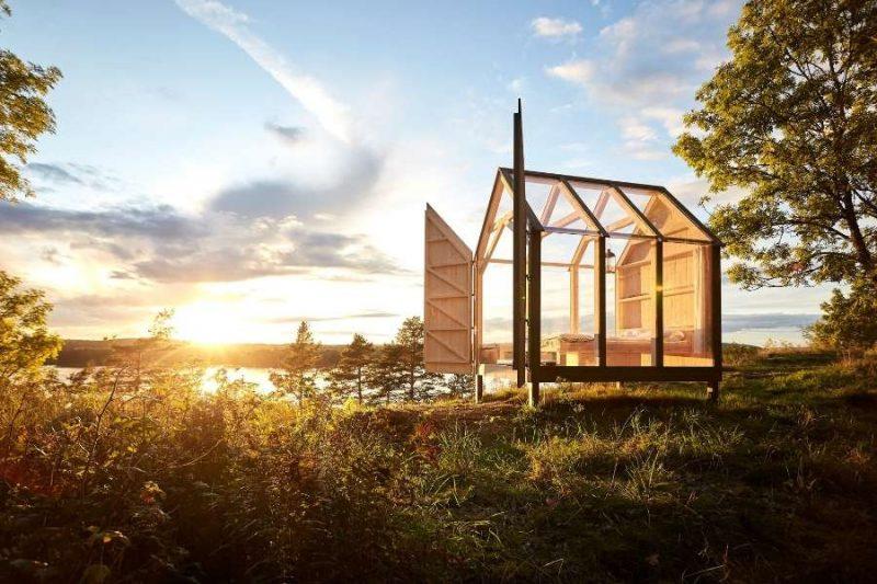 Glazen huis in Zweden