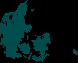 Kaart Denemarken transparant