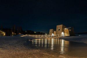 Ontdek het drijvende luxehotel Arctic Bath