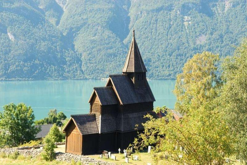 Staafkerk van urnes in Noorwegen - met Nordic