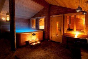 Wellnessfaciliteiten bij de Pinetree Lodge