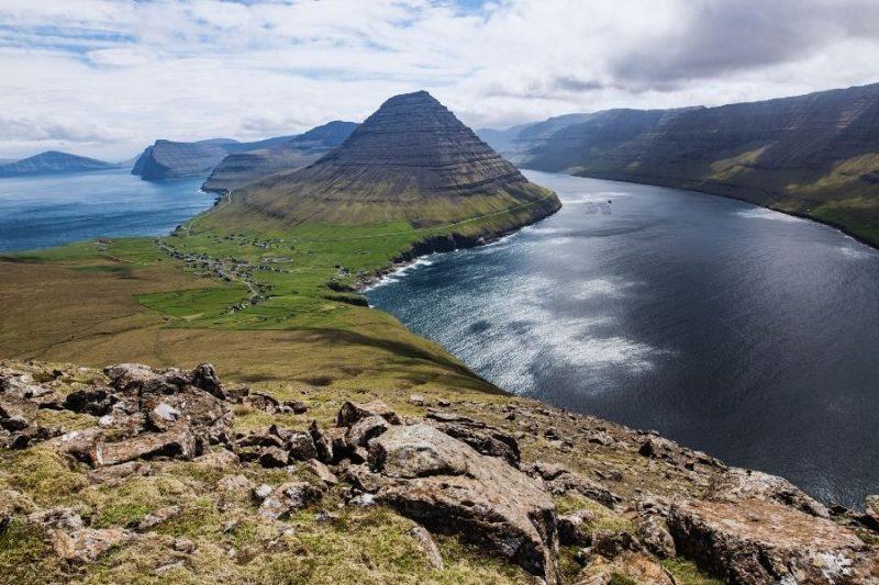 Faeröer eilanden landschap