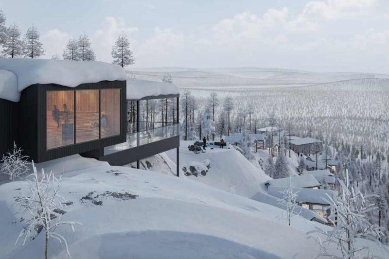Sauna bovenop een bergtop. Hier geniet je van een prachtig uitzicht - ©Explore the North