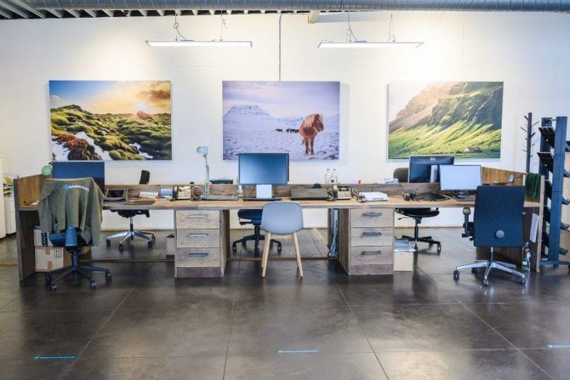 De eerste zaal van ons kantoor in Melle.