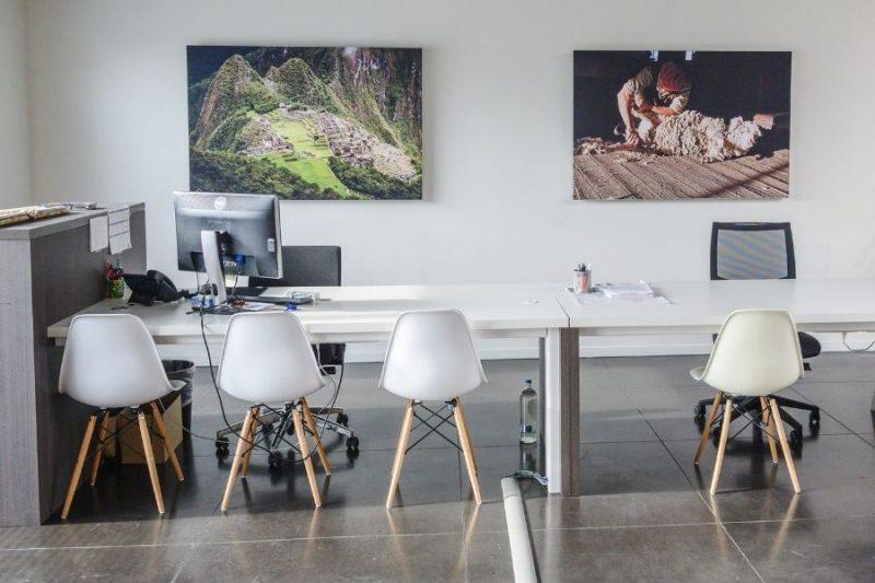 De tweede zaal van ons kantoor in Melle.