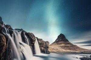 Watervallen IJsland Noorderlicht