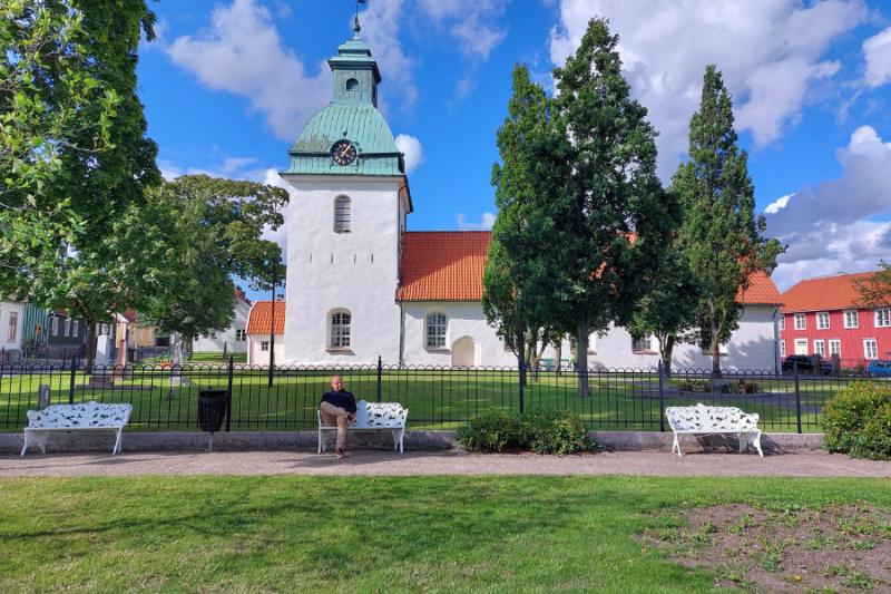 Een kerk in Falkenberg, Zweden